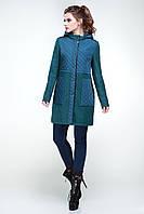 Женское пальто с капюшоном из шерсти мелтон мода весна 2017 размеры  42-50