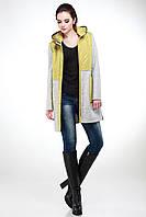 Шерстяное натуральное пальто с капюшоном мода весна  2017 женское размеры  42-50