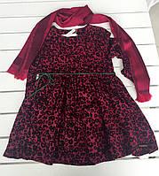 Детское платье и шарф для девочки на 7-10 лет