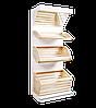 Стелаж хлібний металевий з дерев'яними кошиками 1600*950 мм Ристел