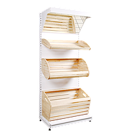 Стелаж хлібний приставний 2100*950 мм,Стеллаж хлебный приставной 2100*950 мм