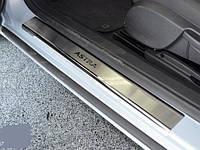 Накладки на пороги  Astra H GTC