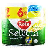 Туалетная бумага Рута Selecta с ароматом ромашки 8 шт.