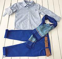 Детская рубашка ,  шарф , брюки для мальчика на 8 -10 лет
