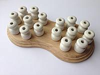 Ролик керамический для открытой проводки (белый)