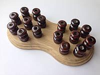 Ролик керамический для открытой проводки (коричневый)