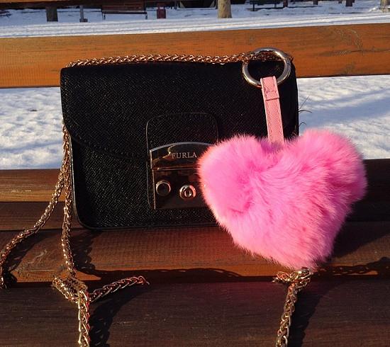 Сердце - брелок Luxury. Розовый цвет