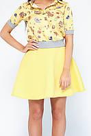 Женская юбка из неопрена Кампа желтая