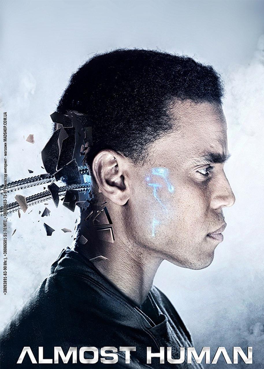 Картина 40х60 см Почти Человек робот