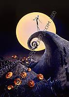 Картина 40х60 см Кошмар перед Рождеством Джек и луна