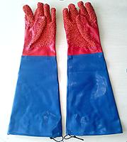Перчатки красные бмс рыбацкие длинные