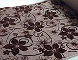 Мебельная рогожка с флоком ткань Шервуд коричневый, фото 3