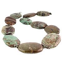 Змеевик серпентин, бусы, 203БСЗ, фото 1