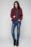 Стильная молодежная  бордовая куртка Косуха  Leo Pride 44-48 размеры