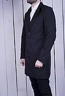 Пальто мужское черное кашемировое топ качество