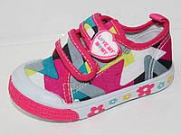 Детская обувь оптом. Детские кеды - слипоны бренда W.niko для девочек  (рр. с 20 по 25)