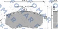 Тормозные колодки передние FOMAR FO 488581 Chery Amulet,Чери Тигго 2.0/2.4