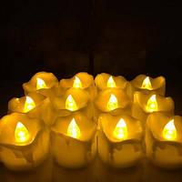 Светодиодные свечи, оплавленные, мерцающие