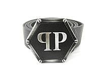 Philipp Plein - черный кожаный ремень унисекс