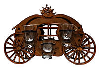 Мини-бар с рюмками деревянный Карета