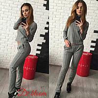 Теплый женский спортивный костюм е-5005352