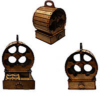 Мини-бар с рюмками деревянный Бочка