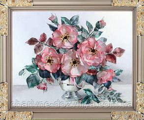 """Набор для вышивания атласными лентами """"Розы пастель"""""""