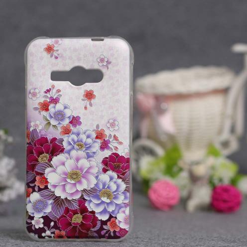 Силиконовый чехол для Samsung Galaxy J1 Ace J110 с картинкой Цветы 79