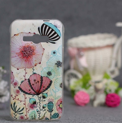 Силіконовий чохол для Samsung Galaxy J1 Ace моделі j110 з картинкою Квіти 46