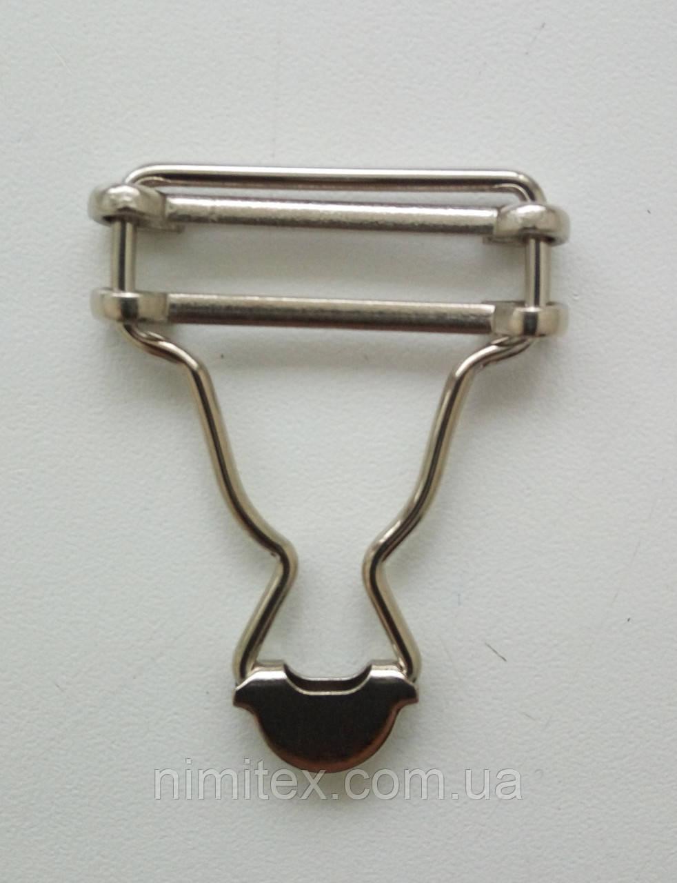 Застежка для комбинезона 30 мм никель
