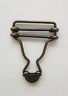 Застежка для комбинезона 30 мм антик