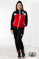 Спортивный женский костюм Adidas. Размер 50-56. Материал трикотаж 2-нитка.