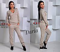 Вязаный женский спортивный костюм с шерстью (в расцветках) у-5505356