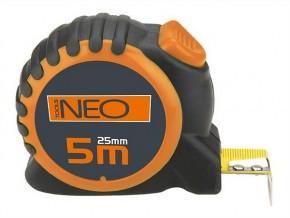 Рулетка, стальная лента, 3 м x 16 мм, 5 м x 25 мм, с фиксатором selflock  NEO  67-163, 67-165