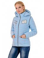 """Женская куртка жилетка голубая """"Элиза"""", фото 1"""