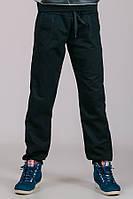 031017 - Детские трикотажные штаны Гольфстрим (черные) унисекс