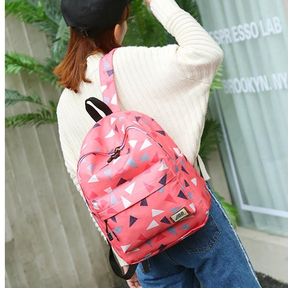 Школьный рюкзак с пеналом Разноцветные треугольники