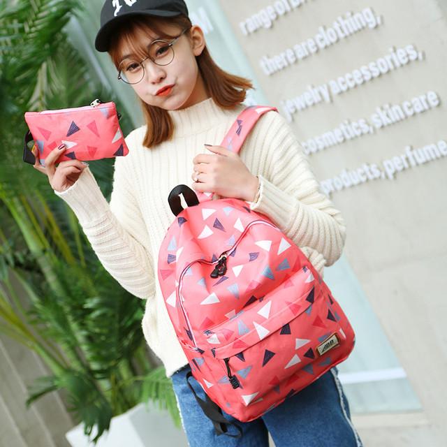Рюкзак для девочки с пеналом