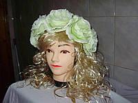 Свадебный венок - нежно салатовый