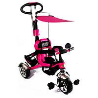 Детский трёхколёсный велосипед, цвет розовый