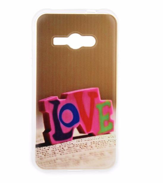 Силиконовый бампер для Samsung Galaxy J1 Ace J110 с картинкой Love