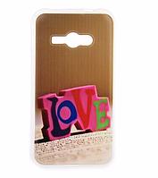 Силиконовый бампер для Samsung Galaxy J1 Ace J110 с картинкой Love, фото 1