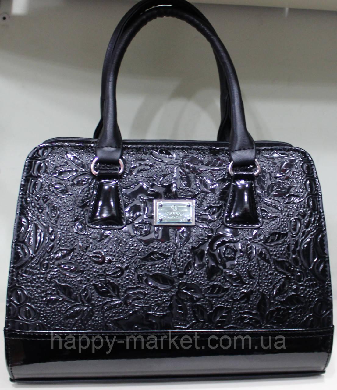 Сумка стильная женская классическая каркасная  Цветы Fashion 17-1426-7