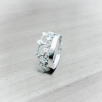 Серебряное кольцо Корона со вставками из фианита, фото 3