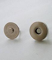 Кнопка магнит 18 мм никель