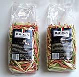 Макароны цветные Italiamo «Fusilli Pugliesi Tris» со шпинатом и томатами, 500 г., фото 2