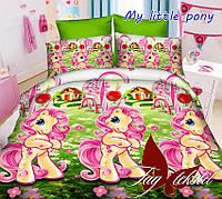 Полуторный комплект детского постельного белья ранфорс My little ponyTM TAG