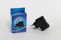 Адаптер USB 220W 1A (черный)*2631