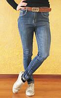 Молодежные женские джинсы с высокой посадкой