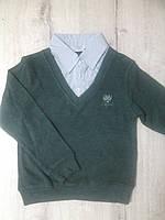 Детская рубашка обманка для мальчика 12955 Турция школьная форма